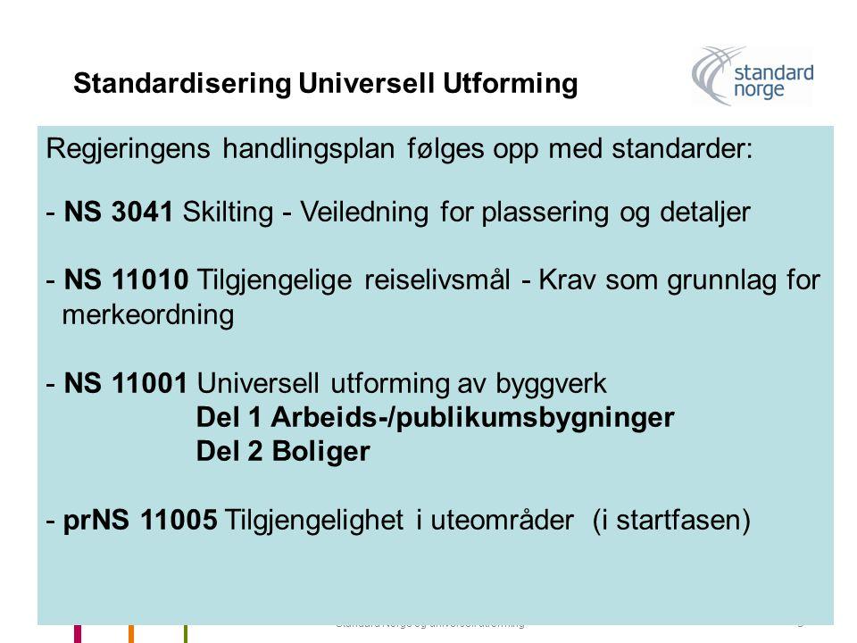 Standardisering Universell Utforming