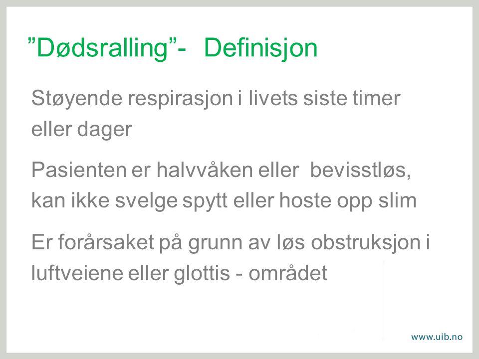 Dødsralling - Definisjon