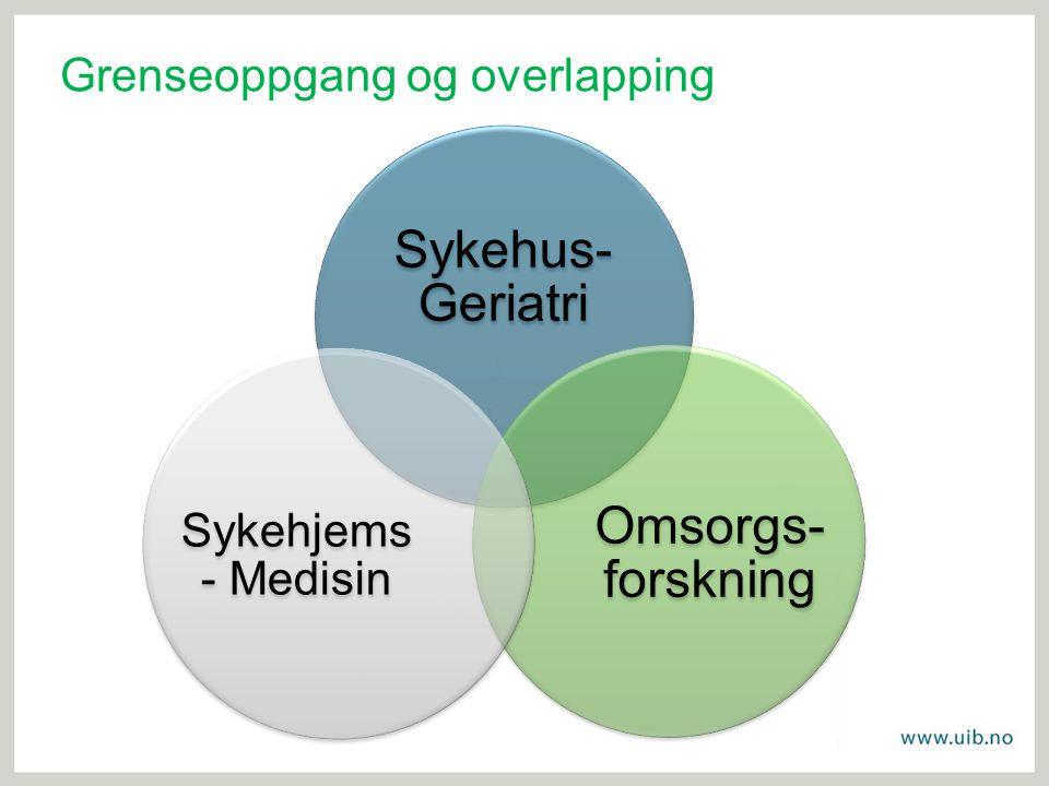 Omsorgs-forskning Sykehus-Geriatri Sykehjems- Medisin