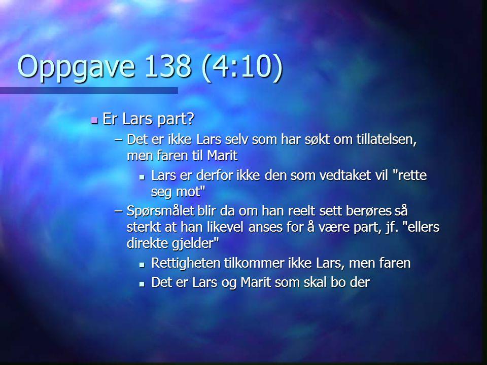 Oppgave 138 (4:10) Er Lars part