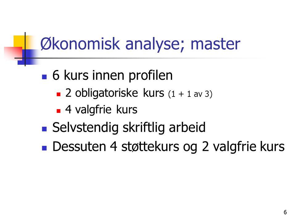 Økonomisk analyse; master