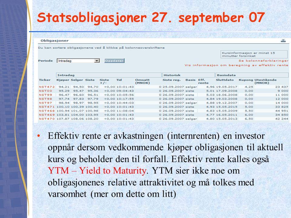 Statsobligasjoner 27. september 07