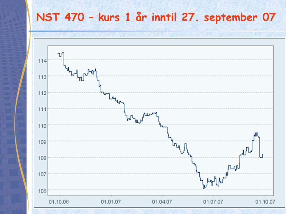 NST 470 – kurs 1 år inntil 27. september 07