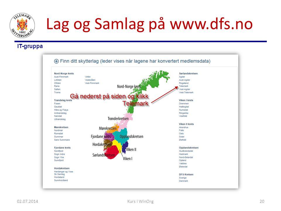 Lag og Samlag på www.dfs.no