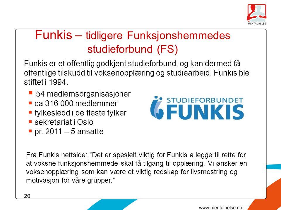 Funkis – tidligere Funksjonshemmedes studieforbund (FS)