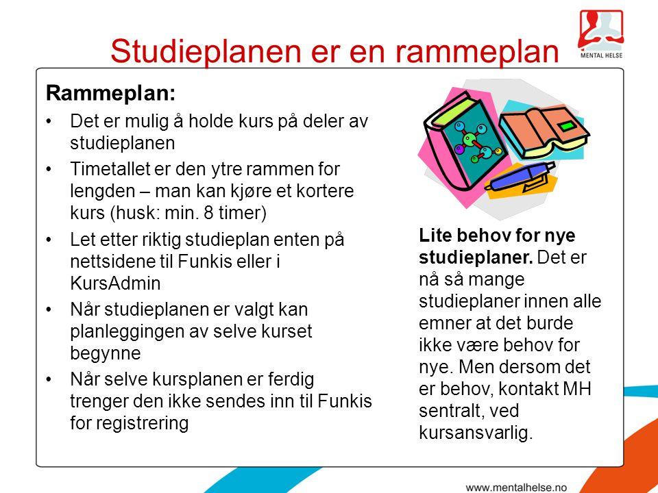 Studieplanen er en rammeplan