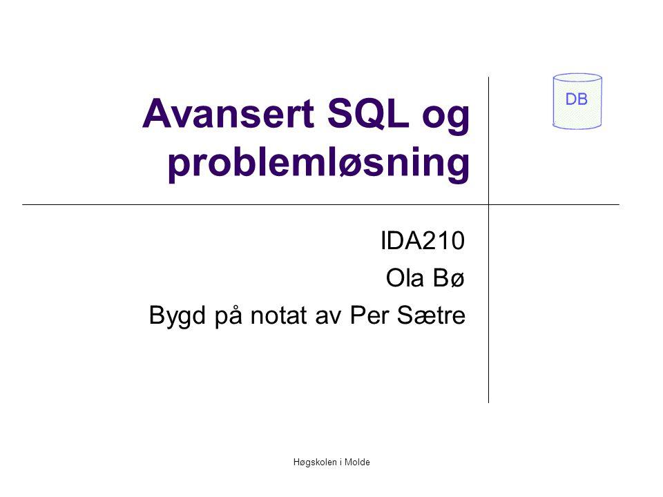 Avansert SQL og problemløsning