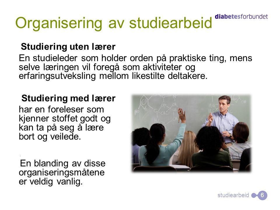 Organisering av studiearbeid