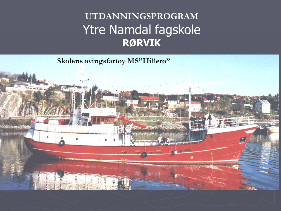 UTDANNINGSPROGRAM Ytre Namdal fagskole RØRVIK