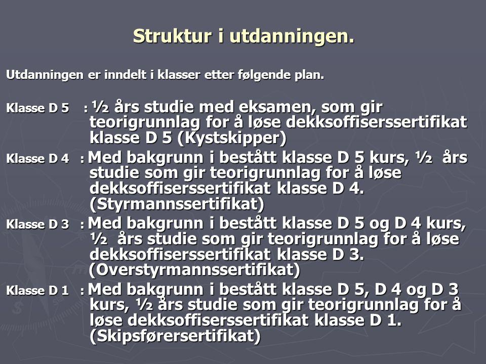 Struktur i utdanningen.