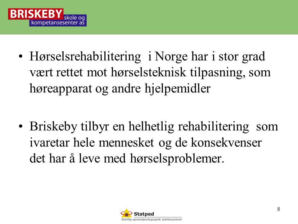 Hørselsrehabilitering i Norge har i stor grad vært rettet mot hørselsteknisk tilpasning, som høreapparat og andre hjelpemidler