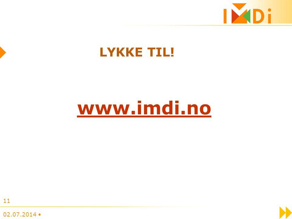 LYKKE TIL! www.imdi.no 03.04.2017 •