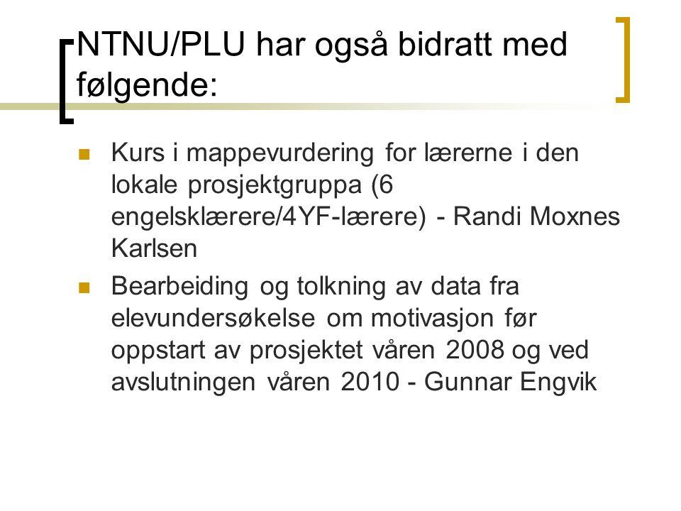 NTNU/PLU har også bidratt med følgende: