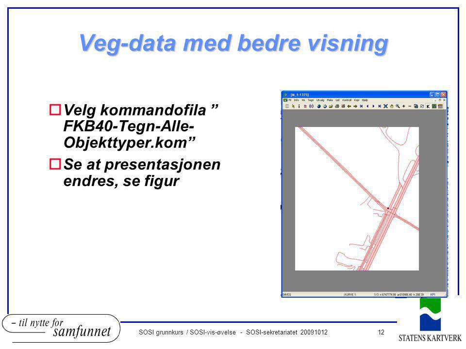 Veg-data med bedre visning