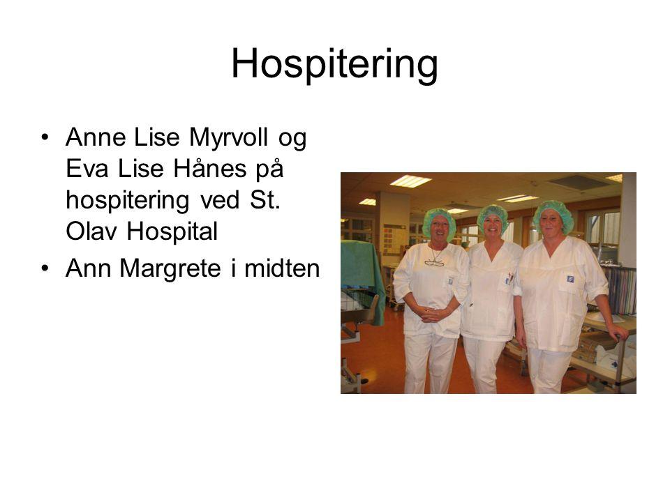 Hospitering Anne Lise Myrvoll og Eva Lise Hånes på hospitering ved St.