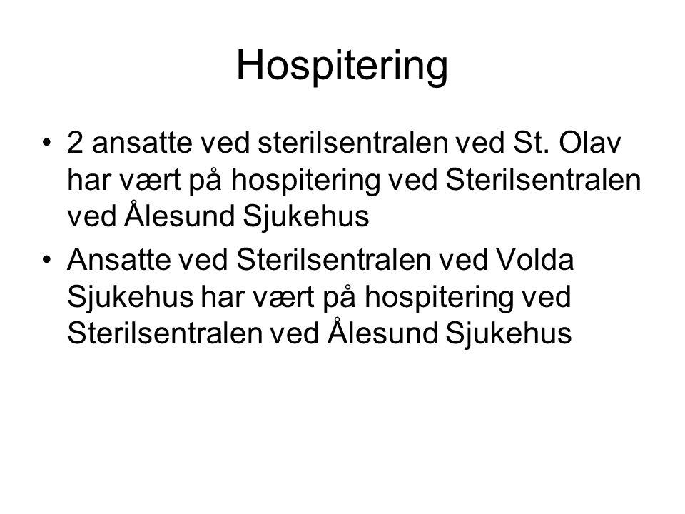 Hospitering 2 ansatte ved sterilsentralen ved St. Olav har vært på hospitering ved Sterilsentralen ved Ålesund Sjukehus.