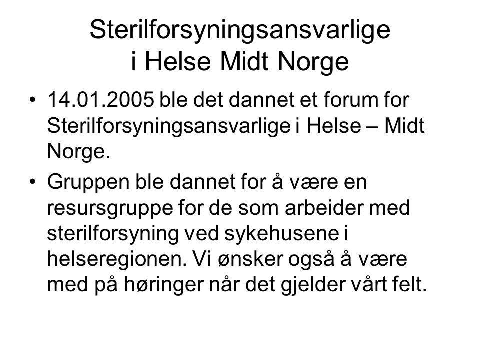 Sterilforsyningsansvarlige i Helse Midt Norge