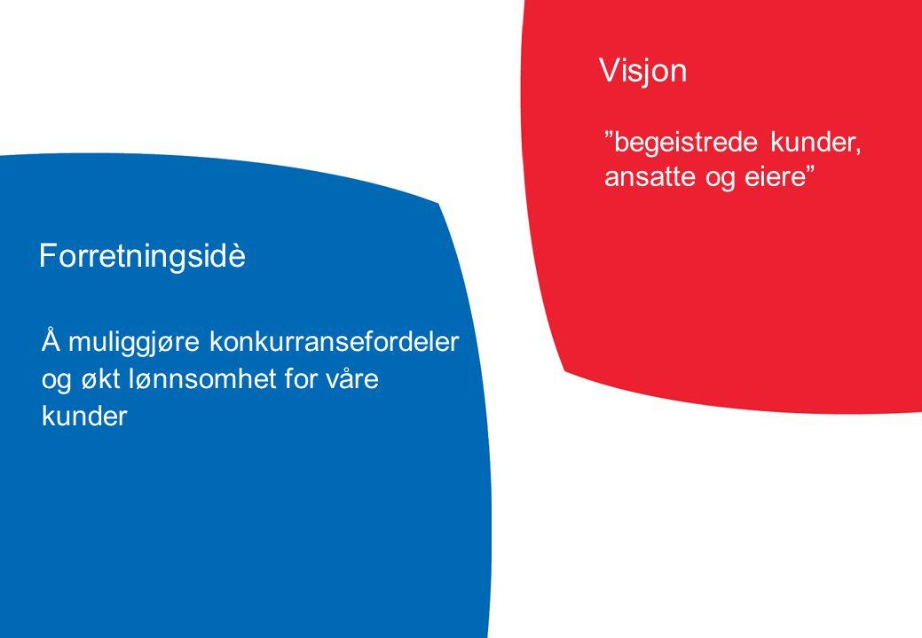 Visjon Forretningsidè begeistrede kunder, ansatte og eiere