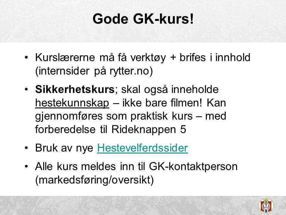 Gode GK-kurs! Kurslærerne må få verktøy + brifes i innhold (internsider på rytter.no)