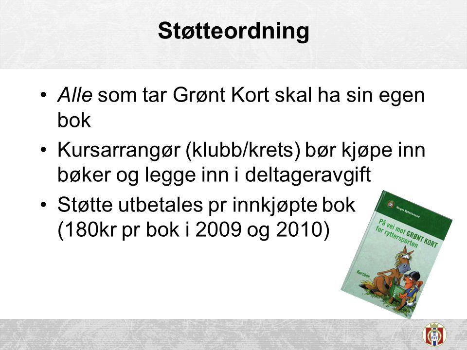 Støtteordning Alle som tar Grønt Kort skal ha sin egen bok