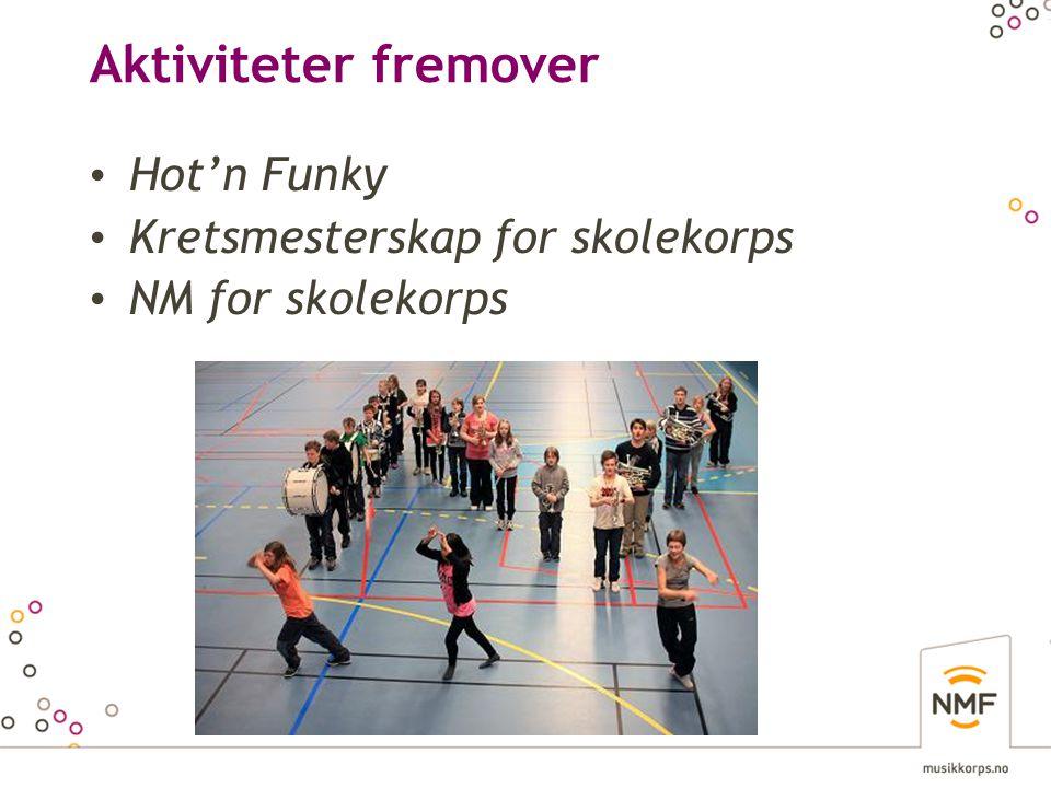 Aktiviteter fremover Hot'n Funky Kretsmesterskap for skolekorps