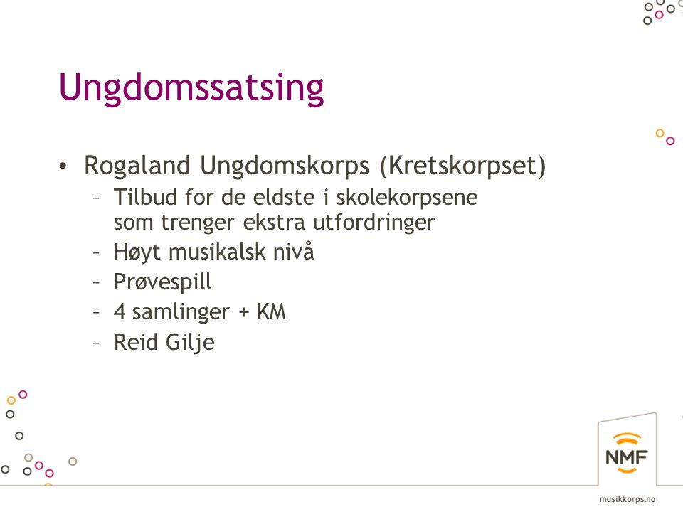 Ungdomssatsing Rogaland Ungdomskorps (Kretskorpset)