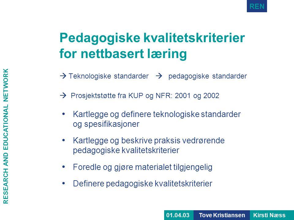 Pedagogiske kvalitetskriterier for nettbasert læring
