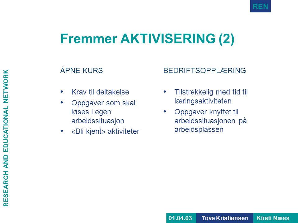 Fremmer AKTIVISERING (2)