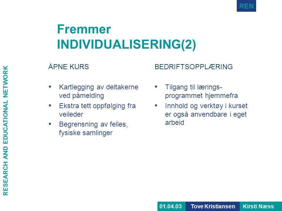 Fremmer INDIVIDUALISERING(2)