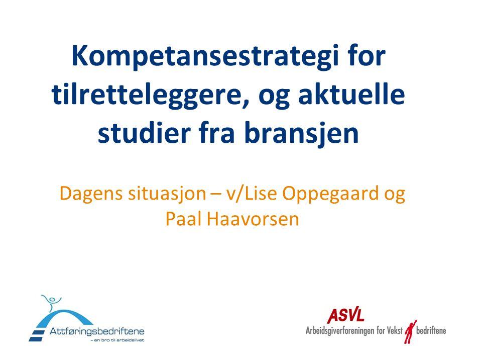 Dagens situasjon – v/Lise Oppegaard og Paal Haavorsen