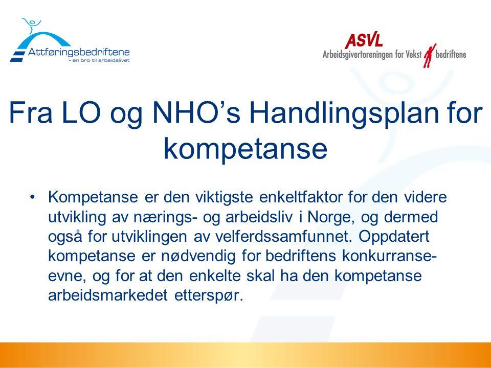 Fra LO og NHO's Handlingsplan for kompetanse