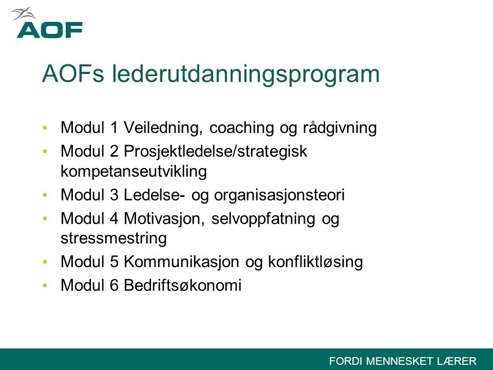 AOFs lederutdanningsprogram