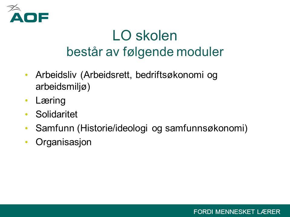 LO skolen består av følgende moduler