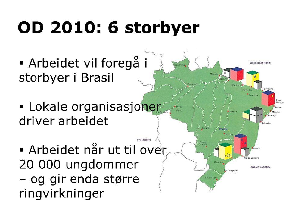 OD 2010: 6 storbyer Arbeidet vil foregå i storbyer i Brasil