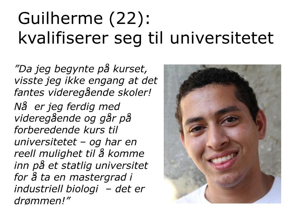 Guilherme (22): kvalifiserer seg til universitetet