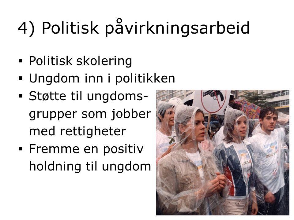 4) Politisk påvirkningsarbeid