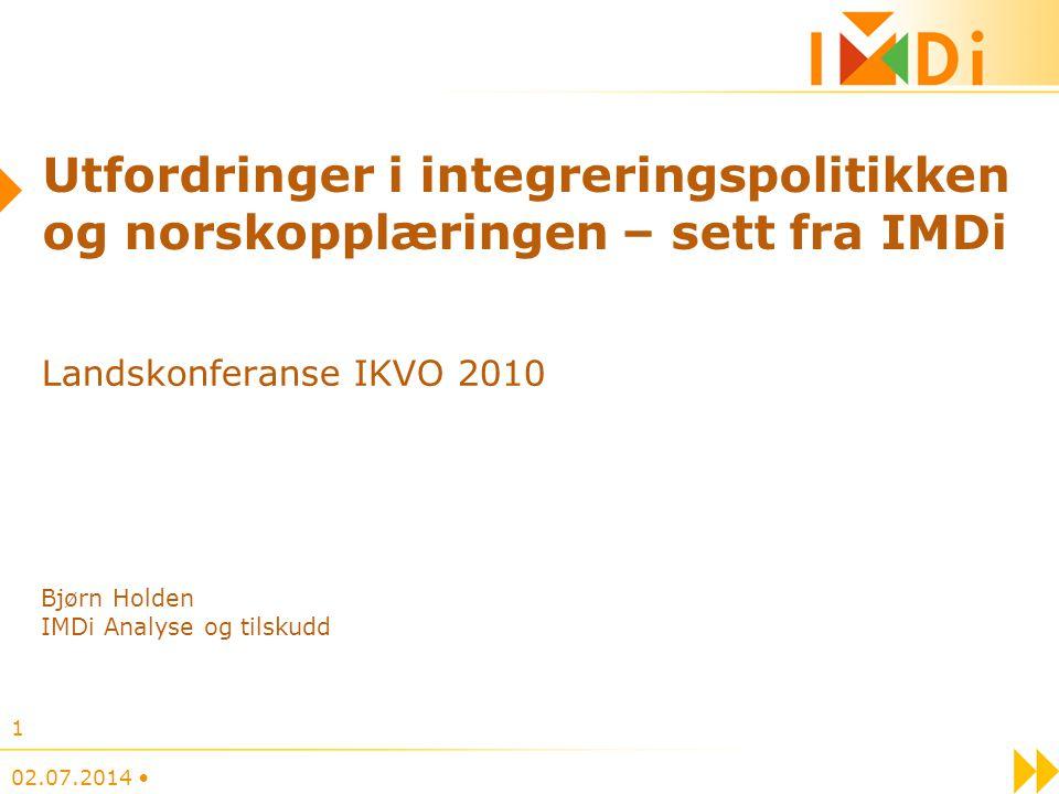 Utfordringer i integreringspolitikken og norskopplæringen – sett fra IMDi