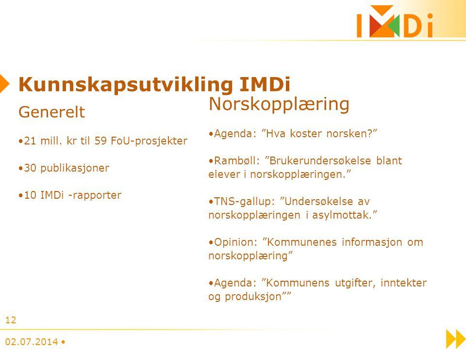 Kunnskapsutvikling IMDi