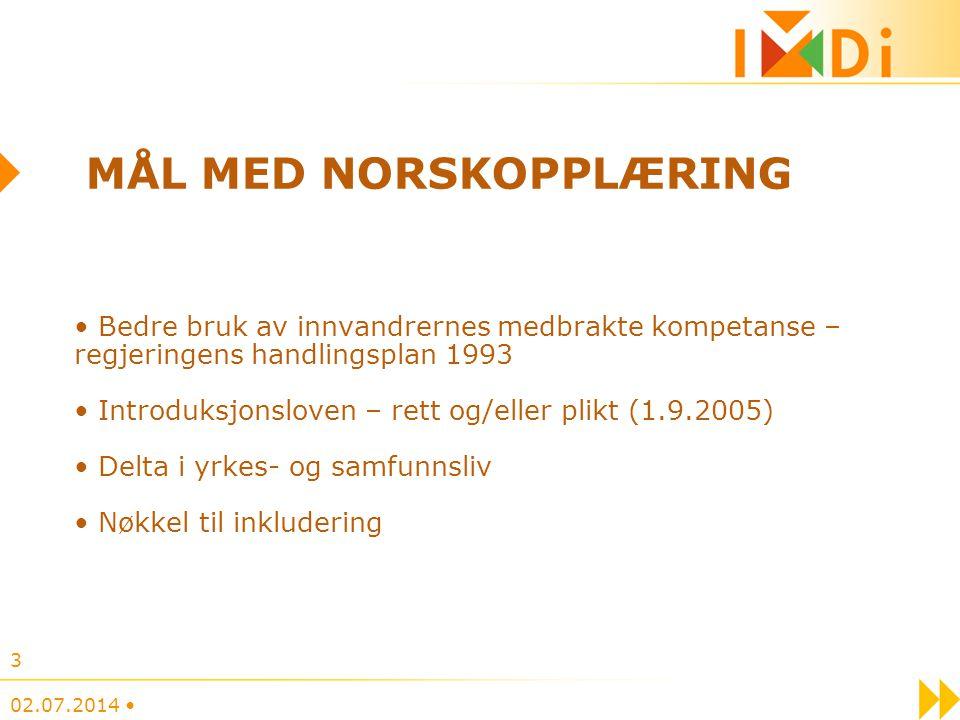 Mål med norskopplæring