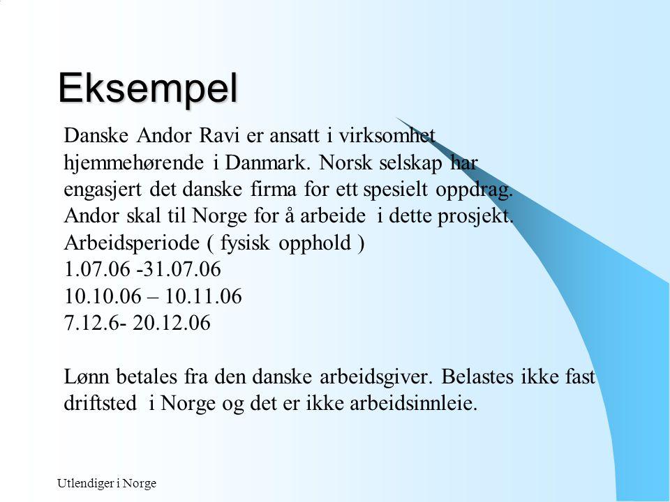 Eksempel Danske Andor Ravi er ansatt i virksomhet