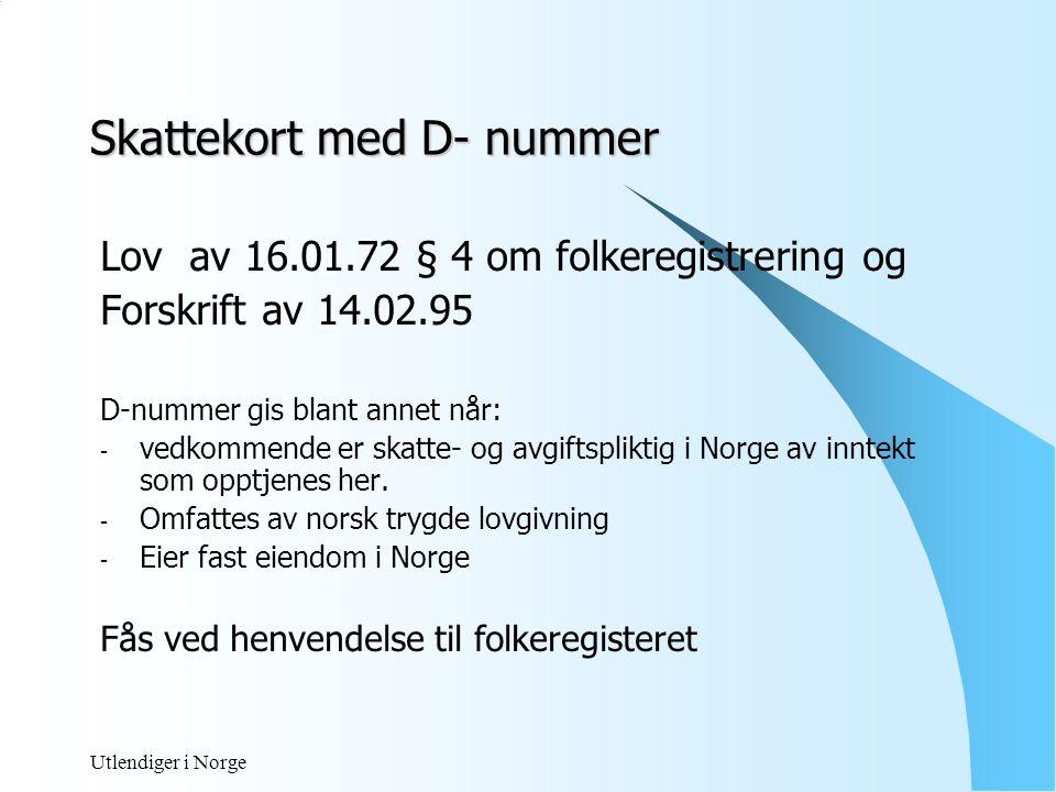 Skattekort med D- nummer