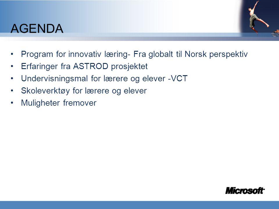 AGENDA Program for innovativ læring- Fra globalt til Norsk perspektiv