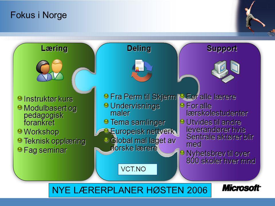 NYE LÆRERPLANER HØSTEN 2006