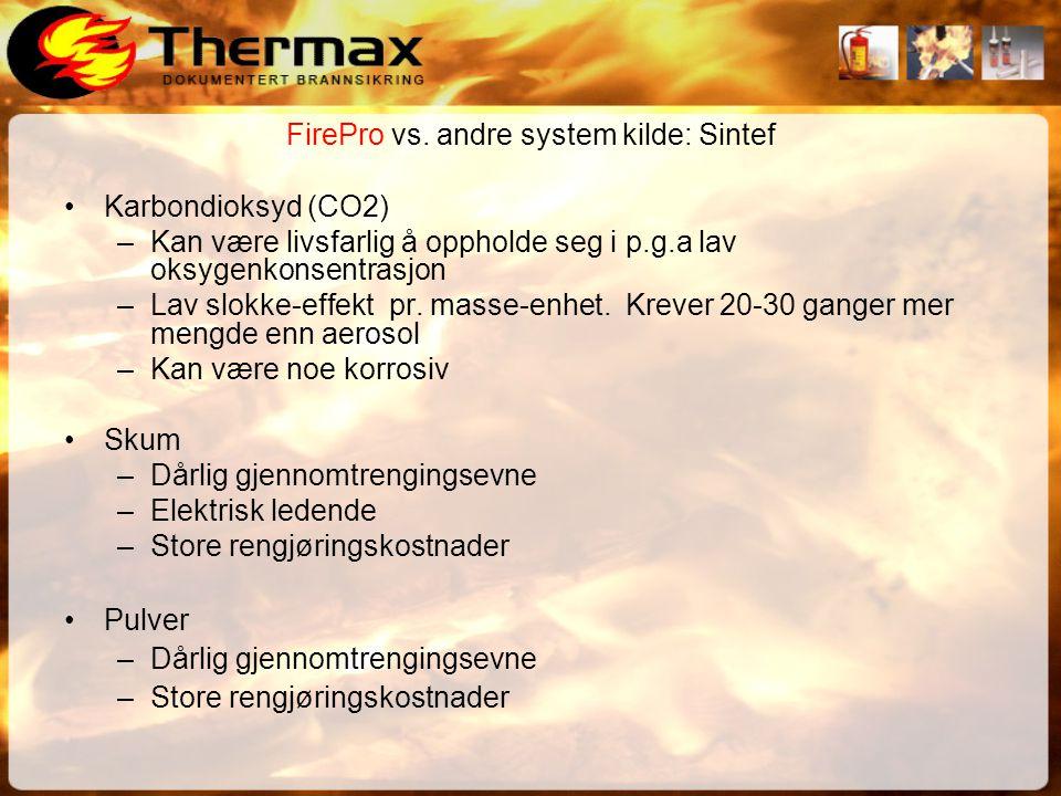 FirePro vs. andre system kilde: Sintef