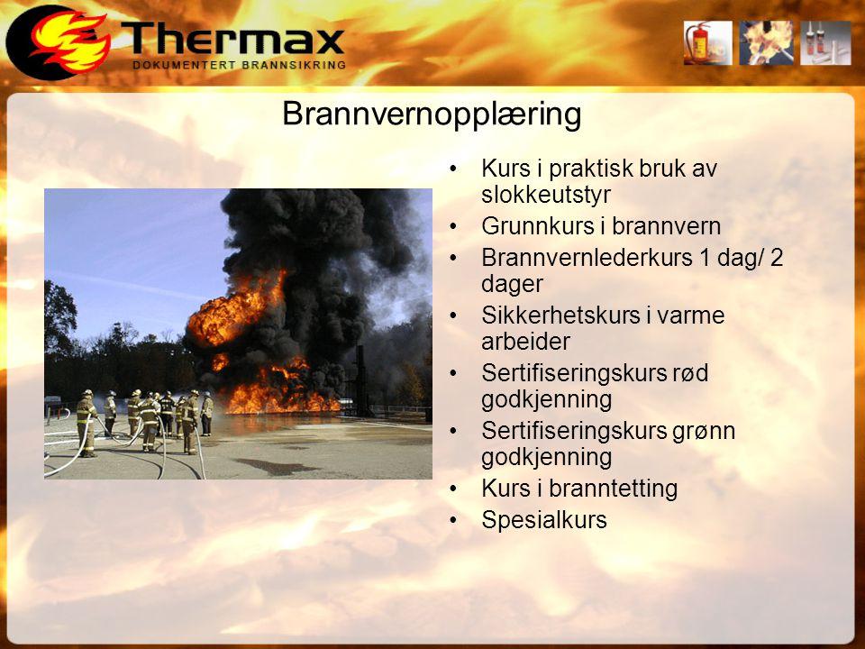 Brannvernopplæring Kurs i praktisk bruk av slokkeutstyr