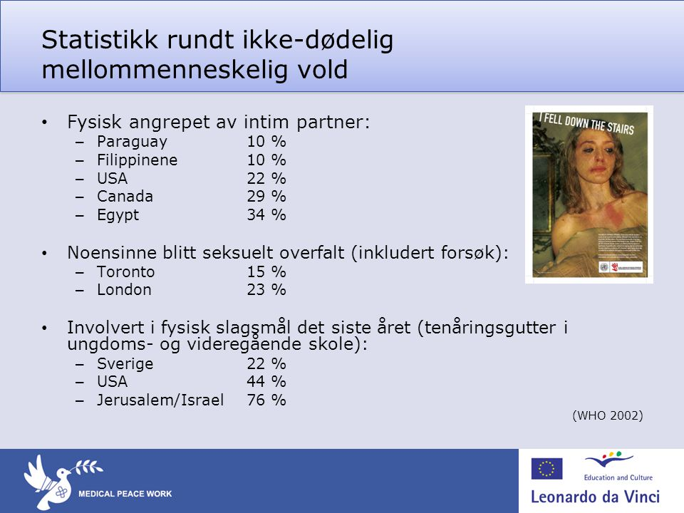 Statistikk rundt ikke-dødelig mellommenneskelig vold