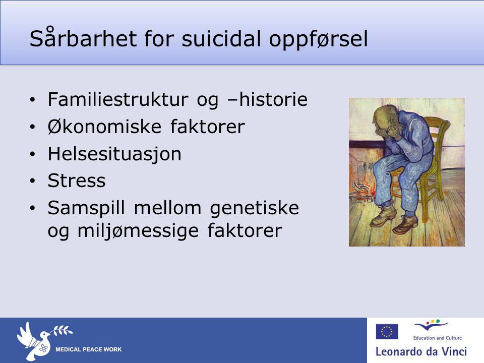 Sårbarhet for suicidal oppførsel