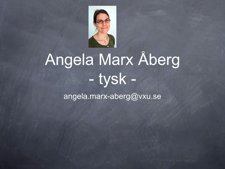 Angela Marx Åberg - tysk -
