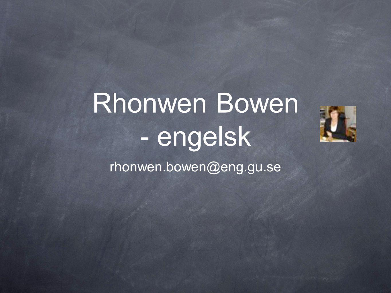 Rhonwen Bowen - engelsk
