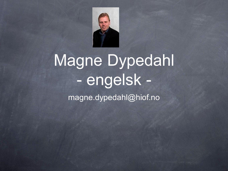 Magne Dypedahl - engelsk -